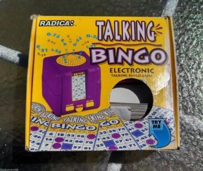 Radica Talking Bingo Board Game