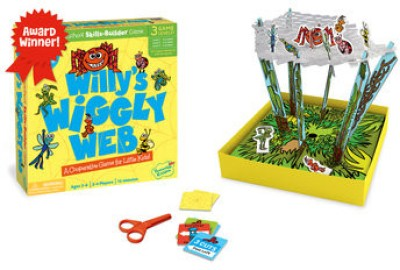 Peaceable Kingdom Willy's Wiggly Web Board Game