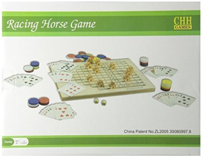 Racing Horse Game Racing Horse Family Wood Include 100 Gaming Chipsa Deck Board Game