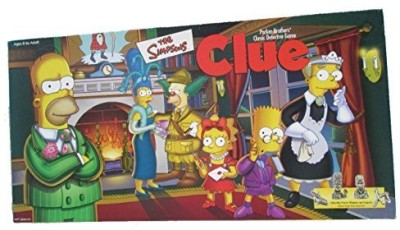 Parker Brothers The Simpsons Clue 1St Edition With Pewter Pieces Board Game