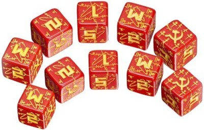 Q Workshop Axis & Allis Soviet Dice Red/Yellow (5) Board Game