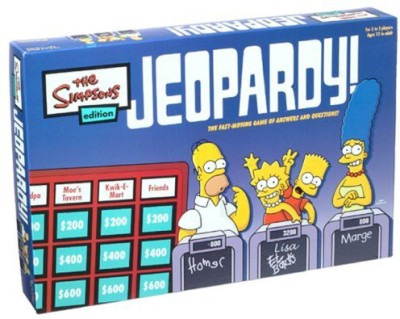 Pressman Toy Jeopardy Simpsons Edition Board Game