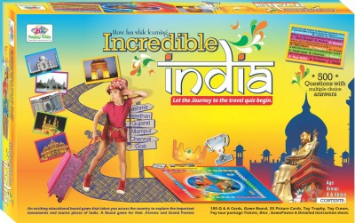 Jaibros Incredible India Quiz for Kids Board Game