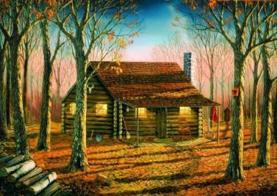 Buffalo Games The Great Outdoorswoodland Cabin 500Pc Jigsaw Puzzle Board Game