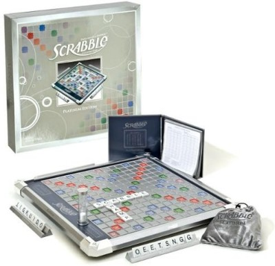 Scrabble Platinum Edition With Rotating Board Game