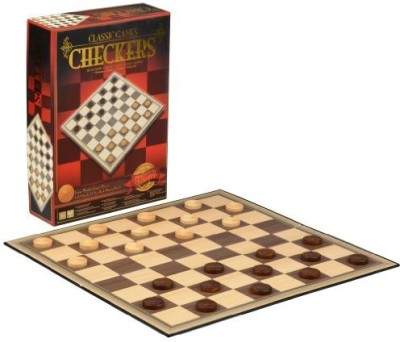 Classic Games Deluxe Checkers Set Board Game