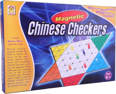 Techno Magnetic Chinese Checker Board Game