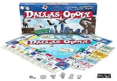 Late for the Sky Dallas Opoly Board Game