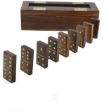 Kartique Hand made Wooden Domino Game Bo...