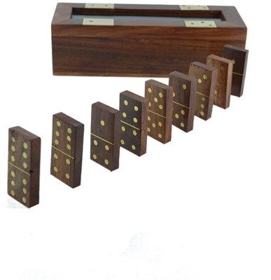 Kartique Hand made Wooden Domino Game Board Game