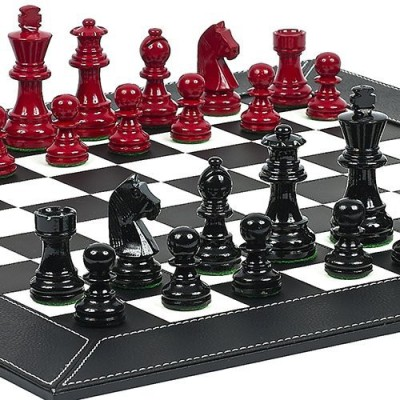 Bello Games New York, Inc. Contemporary Staunton Chessmen & Financial District Chess Board Game
