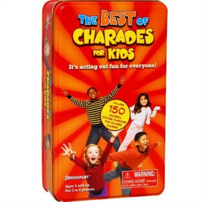 Pressman Toy Charades For Kids In A Tin Board Game