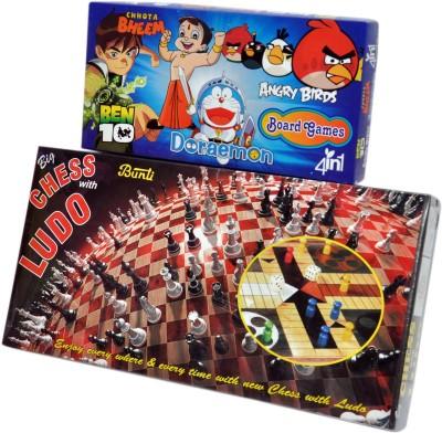 Ga Toyz Chess With Ludo - 4in1 Board Game
