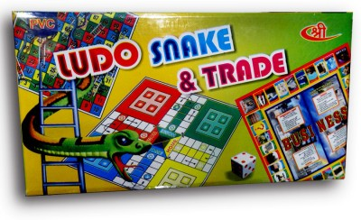 Shree Creations Ludo Snake And Trade Junior Board Game