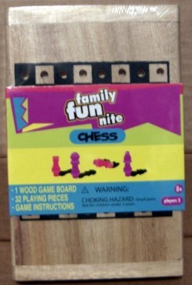 Family Fun Night Checkers Family Fun Nite Chess Wooden Board Game