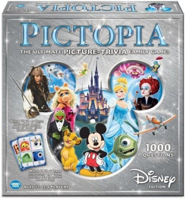 Wonder Forge Pictopiafamily Trivia Disney Edition Board Game
