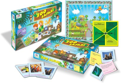 Happy Kidz Zoo Safari Board Game