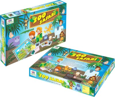 Happy Kidz Zoo Safari Educational Quiz Board Game