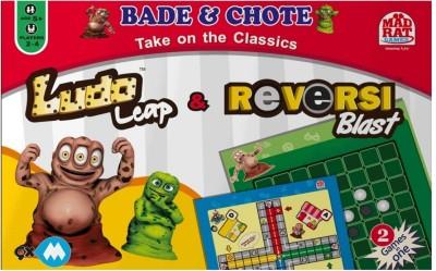 MadRat Games 9XM Ludo Leap & Reversi Blast Board Game
