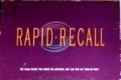 Western Publishing Rapid Recall Board Game