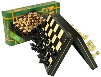 Wegiel Travel Magnetic Folding Chess Black Color Board Game