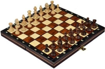Wegiel Magnetic Wooden Tournament Travel Chess Set Medium Board Game