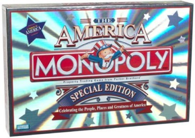 Parker Brothers Monopoly ~ The America ~ Special Edition Board Game