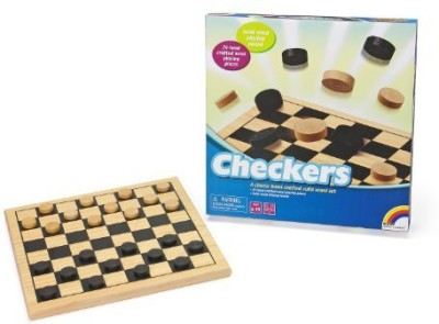 Intex Syndicate LTD Wooden Checkers Board Game