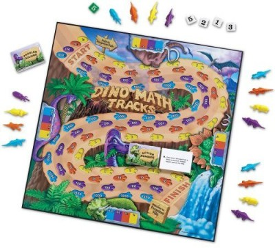 Learning Resources Dino Math Tracks Board Game