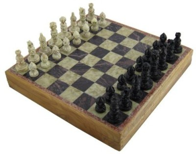 RoyaltyRoute Marble Stone Art Unique India Chess Pieces And Set 8 X 8 Board Game