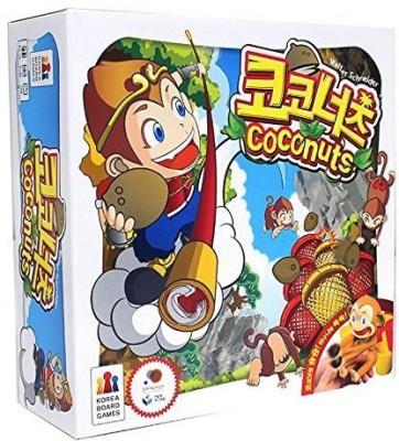 Mayday Games Coconuts Crazy Monkey Dexterity Board Game