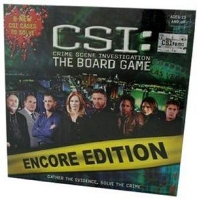 SBG Csi Crime Scene Investigation The Encore Edition Board Game