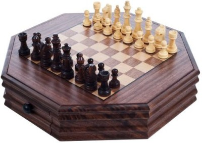 Trademark Games Octagonal Chess And Checkers Set Board Game