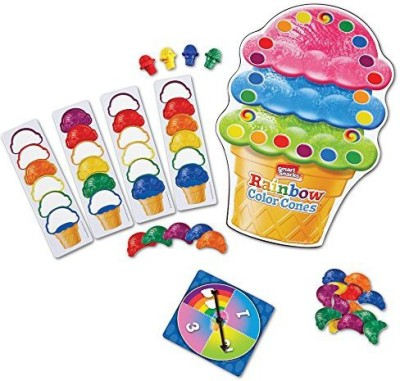 Learning Resources Smart Snacks Rainbow Color Cones Board Game