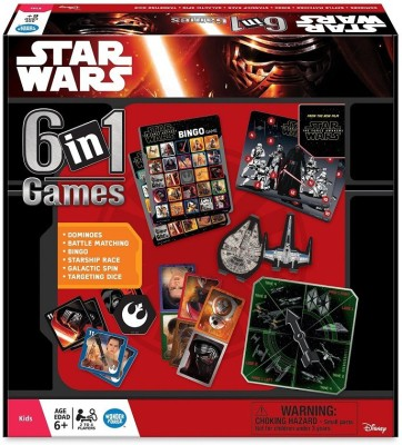 Star Wars The Force Awakens 6 In 1 Board Game