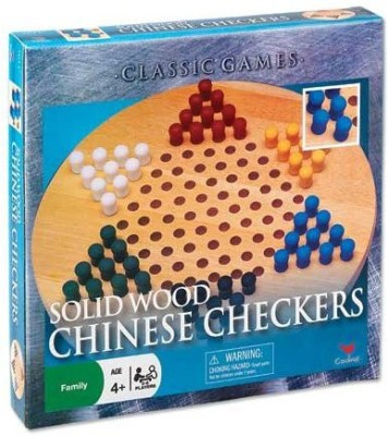 Cardinal Industries Wood Chinese Checkers Board Game