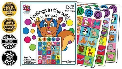 Bright Spots Games Feelings In The Wild Bingo (Play Therapy ) Board Game