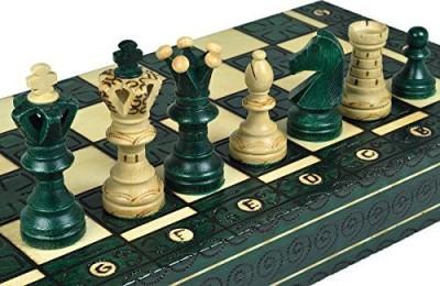 Wegiel Green Royal Wooden Chess Wood 21 X 21 Inchess Board Game