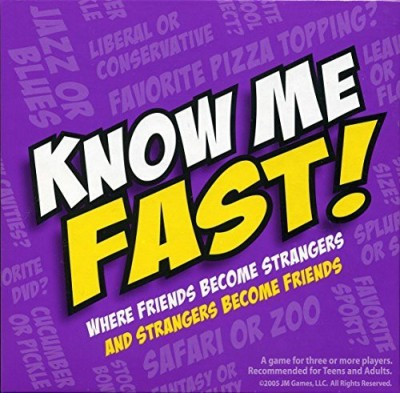 JM Games Know Me Fast Question & Answer Board Game