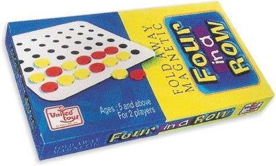 United Toys Fold Away Magnetic Four in a Row Board Game
