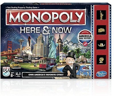 Hasbro Monopoly Here & Now Us Edition Board Game