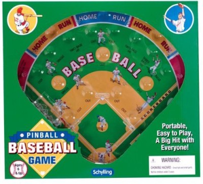 Schylling Associates Inc. Baseball Pinball Board Game