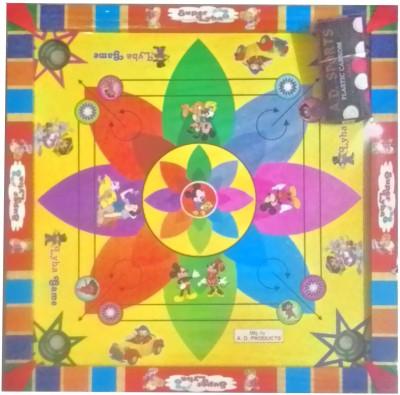 SportsHouse 14 Inch fancy Kids Carrom Board Game