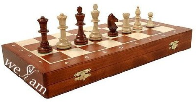 WEKAM Wooden Tournament Staunton Nr4 Chess Set 16X16 Inchess Board Game