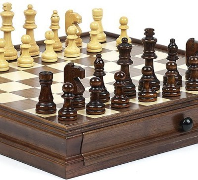 Bello Games New York, Inc. New York Stock Exchange Deluxe Wooden Chess & Checkers Set Board Game