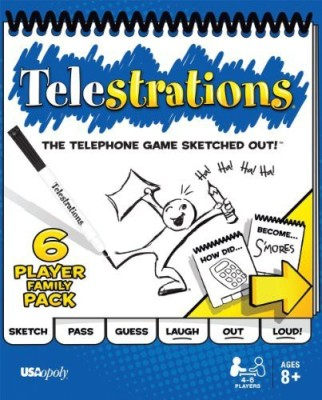 USAopoly Telestrations 6 Player Family Pack Board Game