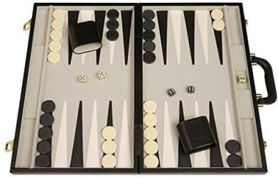 Middleton Games Deluxe Backgammon Set (Black Attache Case) 15X10 Board Game
