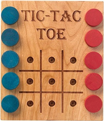 Maple Landmark Deluxe Cherry Tictactoe Made In Usa Board Game