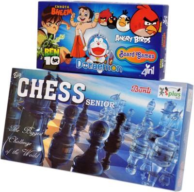 Ga Toyz Senior Chess - 4in1 Board Game