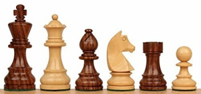 The Chess Store German Knight Staunton Wood Chess Set In Golden Rosewood Board Game